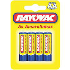 Pilhas pequenas amarelinhas Rayovac AA 4x1
