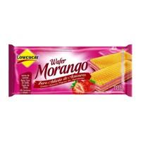 Biscoito wafer sabor morango sem adição de açucar Lowçucar 115g.