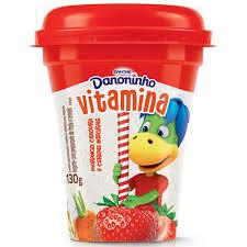 Iogurte Danoninho vitaminas Morango, cenoura e cereais 130g