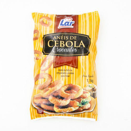 Anéis de cebolas crocantes empanadas congelada Lar 1kg