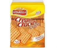 Biscoito cream cracker sabor pão assado Vitarella 400g