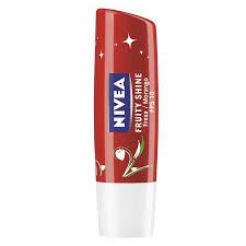 Protetor labial fruity shine sabor morango Nivea 4,8g