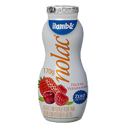 Iogurte zero lactose sabor frutas vermelhas Itambé 170g