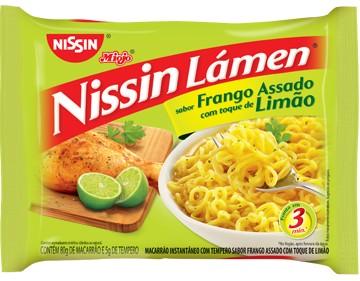 Macarrão instantâneo frango assado com limão Nissin 85g
