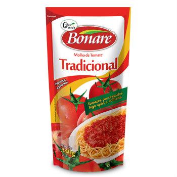 Molho de tomate tradicional Bonare 340g