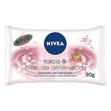 Sabonete talco e óleo de amêndoas Nivea 85g