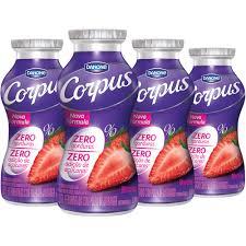 Iogurte Danone Corpus light morango 170g. (pacote c/ 4 unid.)
