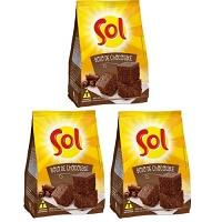 Mistura para bolo de chocolate Sol 400g. (pacote c/ 3 unid.)