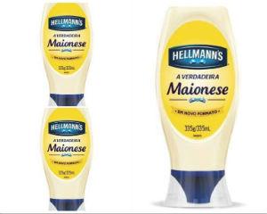 Maionese Hellmanns squeeze 335g (maionese c/3 unid.)