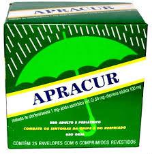 Apracur caixa com 25 cartelas c/ 6 comprimidos