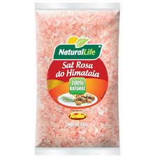 Sal rosa grosso do Himalaia pacote 500g