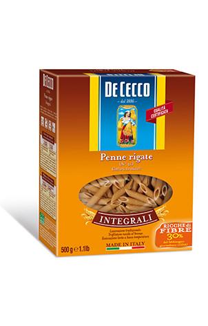 Massa grano duro integral Italiana Penne Rigate  De Cecco 500g