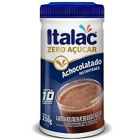 Achocolatado em pó zero açucar Italac 210g