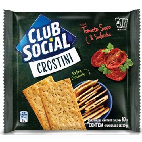 Biscoito crostini  tomate seco e salsinha Club Social 4x20g