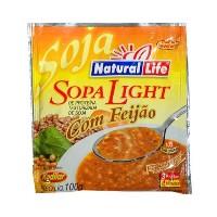 Sopa light de proteina de soja c/ feijão Natural Life 100g