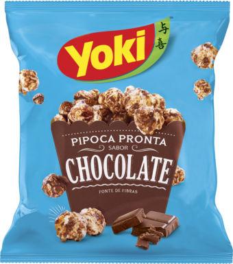 Pipoca pronta sabor chocolate Yoky 50g