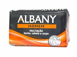 Sabonete masculino Homem multiação barba, cabelo e corpo Albany 85g
