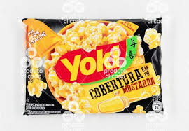 Pipoca de micro ondas cobertura em pó sabor mostarda Yoki 150g