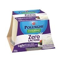 Queijo frescal light zero lactose Frescatino Polenghi 250g