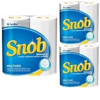 Papel toalha Snob Tradicional 02 rolos 22x20 cm (pacote c/ 3 unid.)