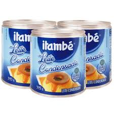 Leite condensado Itambé lata 395g.(pacote c/ 3 unid.)