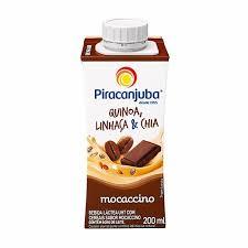 Bebida láctea c/ linhaça, quinoa e chia sabor macaccino Piracanjuba 200ml