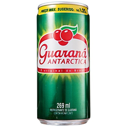 Guaraná Antarctica lata 269ml.