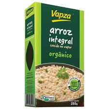 Arroz integral orgânico a vácuo Vapza 250g
