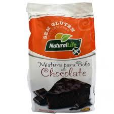 Mistura para bolo sem glúten sabor chocolate Natural life 480g
