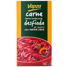 Carne seca bovina desfiada a vácuo Vapza 400g