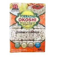 Torrada de arroz integral orgânico com quinoa e linhaça Okoshi 75g