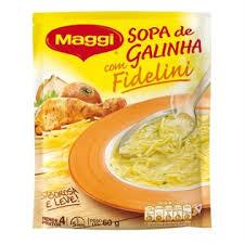 Sopa de galinha com Fideline Maggi 60g