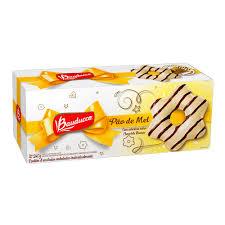 Pão de mel c/ cobertura de chocolate branco Bauducco 30g (caixa c/ 8 unid.)