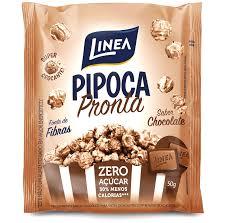 Pipoca pronta de chocolate zero açúcar Linea 50g