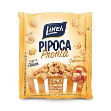 Pipoca pronta de caramelo zero açúcar Linea 50g