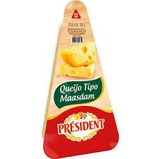 Queijo Maasdam fracionado President 160g