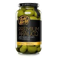 Azeitona verdes premium c/ caroço gordal Vale Fértil 500g