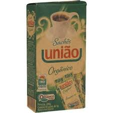 Açúcar orgânico em sachês União 40x1