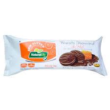 Biscoito funcional de mel com cobertura de chocolate meio amargo Natural Life 140g