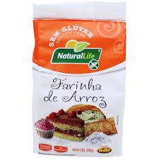 Farinha de arroz sem glúten Natural Life 500g