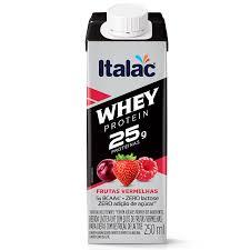 Bebida láctea Whey 25g Protein zero lactose sabor frutas vermelhas Italac 250ml
