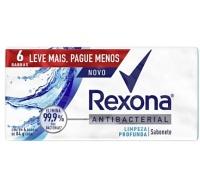 Sabonete antibacteriano limpeza profunda Rexona (pacote c/ 6 unid. 84g.)