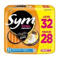 Absorvente Sym Cobertura Seca Com Abas 32x1