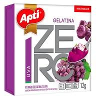 Gelatina Apti zero açucar uva 12g