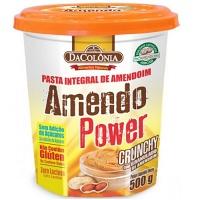 Pasta de amendoim Amendo Power Crunchy DaColonia 500g