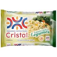 Macarrão instantâneo sabor legumes Cristal 85g.