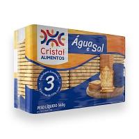 Biscoito água e sal Cristal 360g