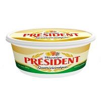 Manteiga extra com sal Président pote 200g.