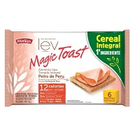 Torrada integral sabor peito de peru Magic Toast Marilan 130g