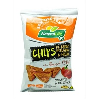 Chips de arroz integral e milho sweet chili sem glúten Natural Life 70g